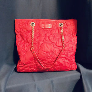 Kate Spade Soft Tote in Poppy w/ Gold Detailing